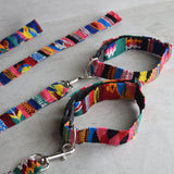 Woven Mayan Dog Collar and Matching Leash