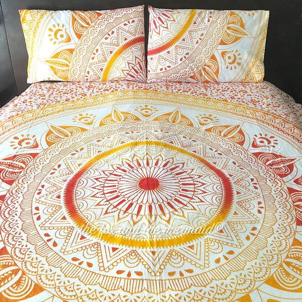 Yellow and Red Ombre Duvet Cover The Fox and the Mermaid