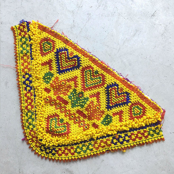 Yellow Beaded Patch with Hearts The Fox and the Mermaid