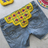 yellow banjara embroidered patch The Fox and the Mermaid