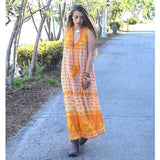 Boho chic indian cotton vintage style dress The Fox and the Mermaid