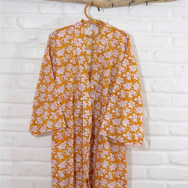 Yellow Cotton Robe The Fox and the Mermaid