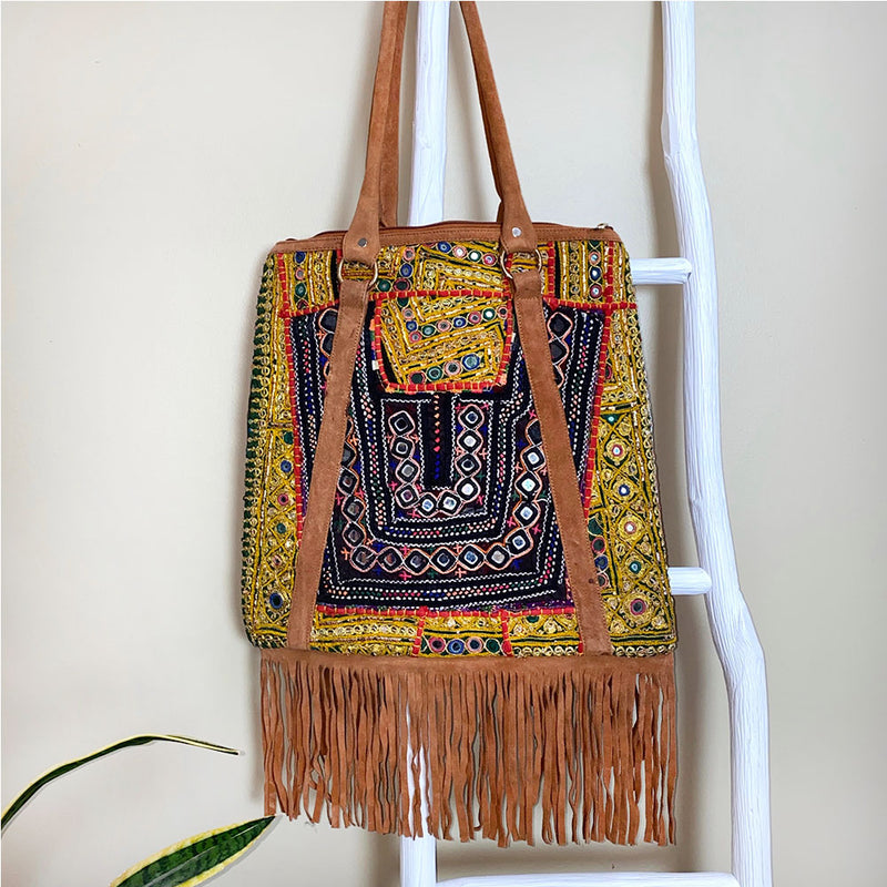 back of indian fringe bag - The Fox and the Mermaid