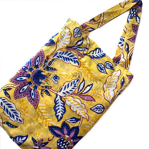 Yellow and purple carrying bag Kimono and shorts - The Fox and the Mermaid