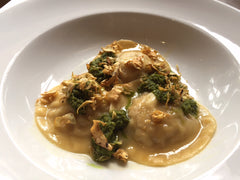 Rabbit ravioli at Lucio's paddington