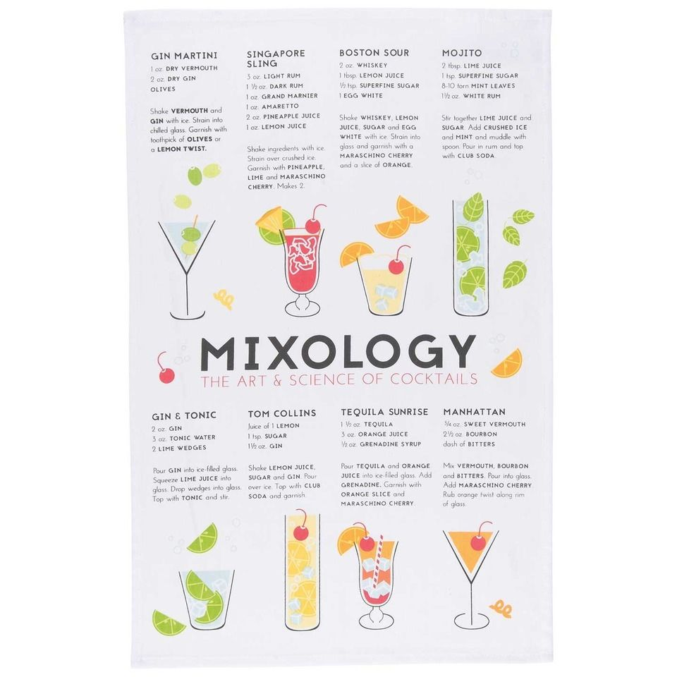 Mixology Tea Towel