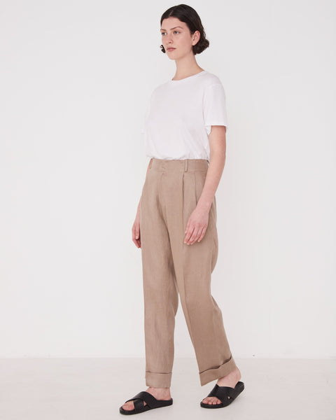 Assembly Label Tailored Linen Pant Husk