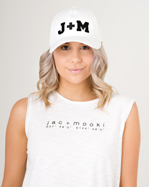 Jac and Mooki Logo Cap White