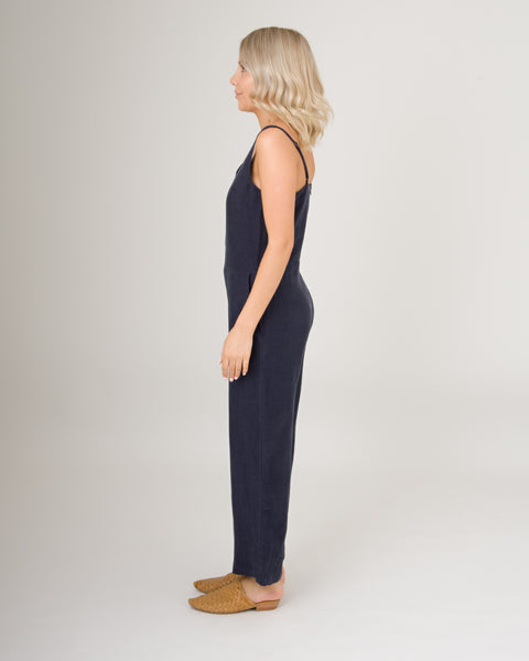 Assembly Label Deep V Jumpsuit Navy