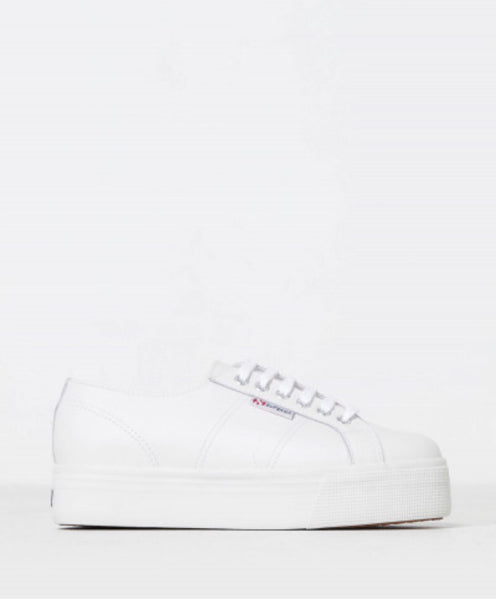Superga 2790 FLGW Platform Leather Sneaker