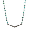 "Pavé Diamond Chevron 16"" Necklace with Emeralds"