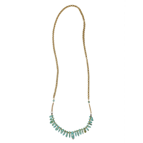 "Graduated Kingman Turquoise 36"" Necklace"