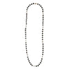 "Black Onyx Cube 40"" Necklace with Baroque Pearls"