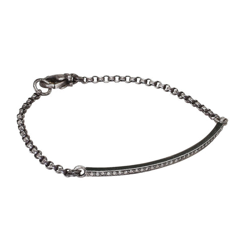 Pavé Diamond Bar Bracelet