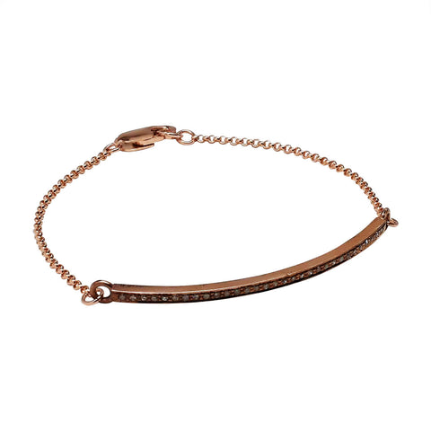 Rose Gold Pavé Diamond Bar Bracelet