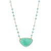 Apatite Pendant with Apatite & Pineapple Quartz Necklace 18""