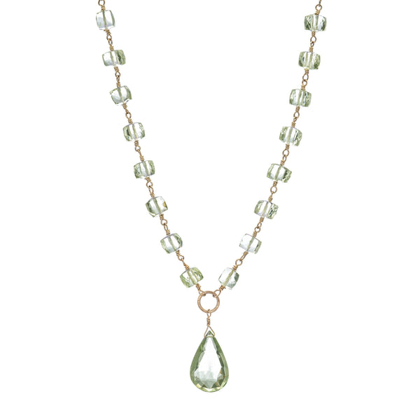 "Green Amethyst 19"" Necklace"