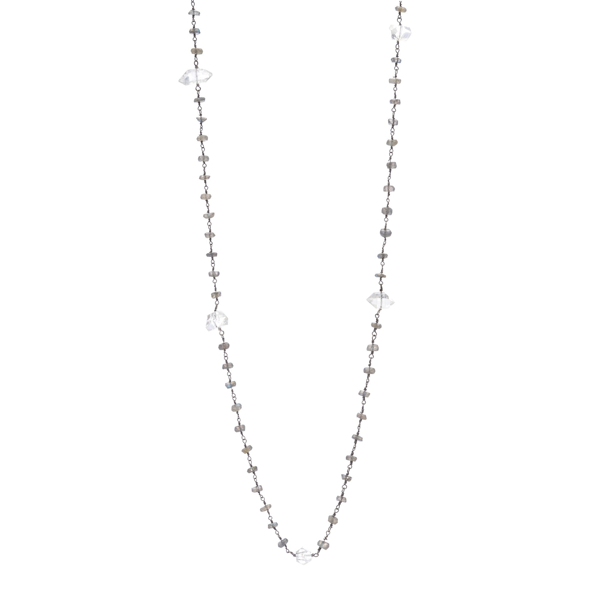 pave iolite necklace bar products diamond