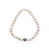 White Agate and Pavé Diamond Bracelet