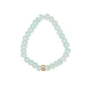 Chalcedony and Rose Gold over Sterling Silver with Cubic Zirconia Bracelet