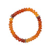 Graduated Carnelian and Pavé Diamond Bracelet