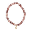 Russian Pink Muscovite with Moonstone Drop Bracelet