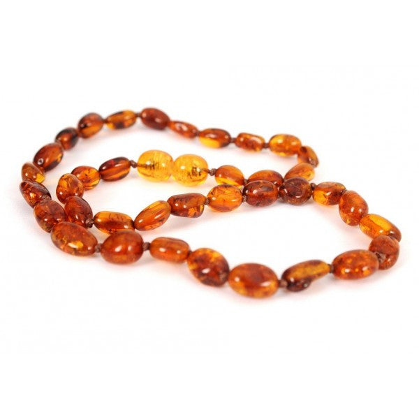 Cognac OVAL AMBER NECKLACES