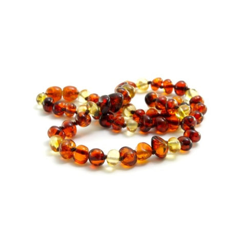 Cherry and Lemon Baltic Amber Necklace