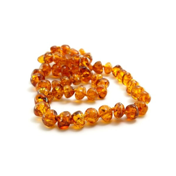 Cognac Round Baltic Amber Necklace