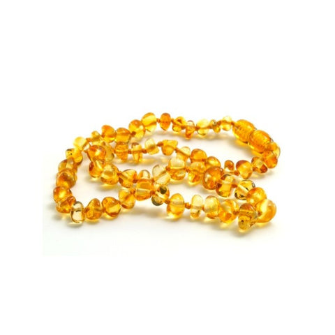 Lemon Round Baltic Amber Necklace