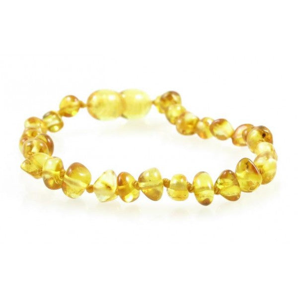 LEMON BAROQUE BALTIC AMBER BABY BRACELET