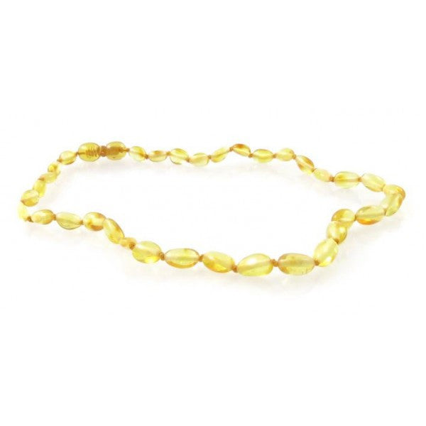 LEMON OVAL AMBER NECKLACES
