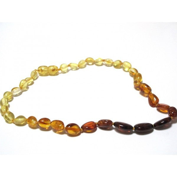 MIXED OVAL AMBER NECKLACES