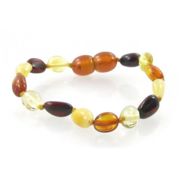 MULTI OVAL AMBER BABY BRACELET wholesale