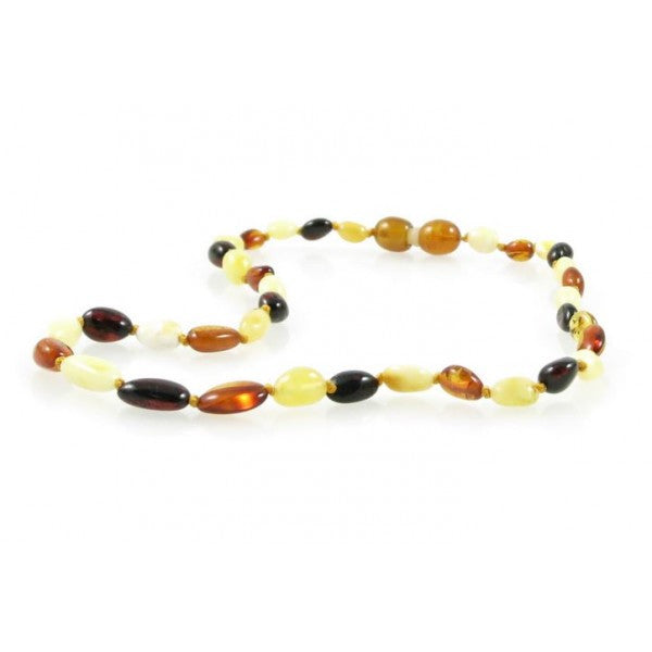 MULTI OVAL AMBER NECKLACES