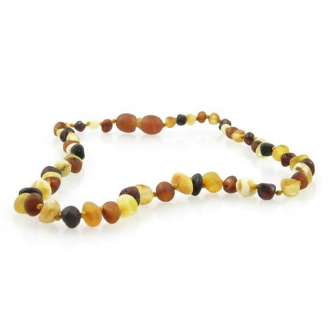 RAW MULTI BALTIC AMBER BABY TEETHING NECKLACE