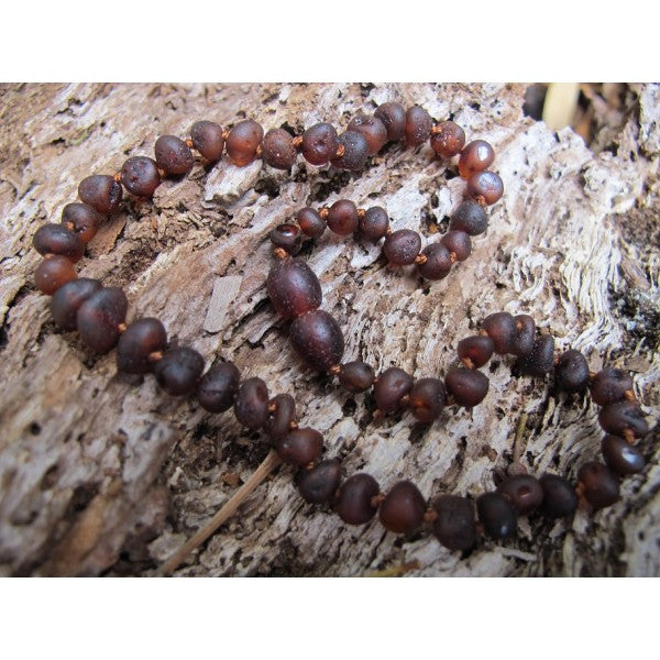 RAW CHERRY AMBER BABY TEETHING NECKLACE wholesale