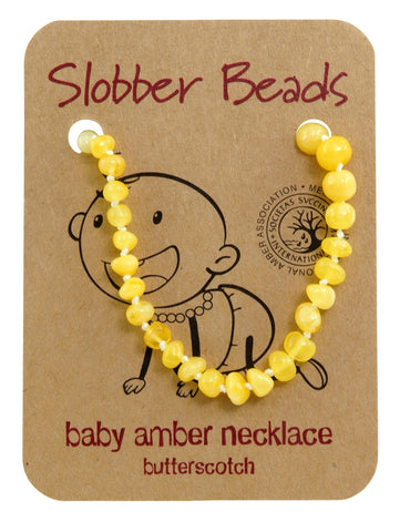 BUTTERSCOTCH BALTIC AMBER BABY TEETHING NECKLACE