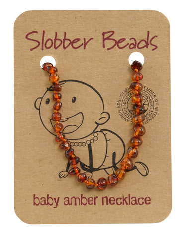 COGNAC BABY AMBER NECKLACE