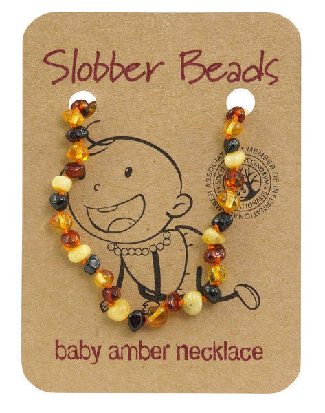 MULTI BALTIC AMBER BABY TEETHING NECKLACE wholesale