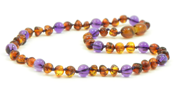 Amber and Amnethyst Necklace wholesale