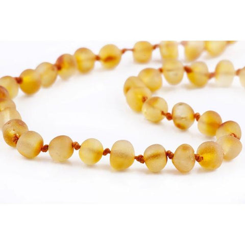 RAW HONEY BALTIC AMBER BABY TEETHING NECKLACE
