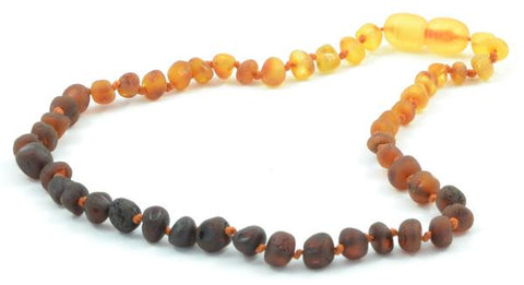 Raw rainbow amber necklace