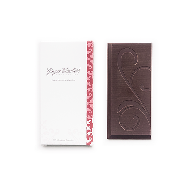 Cocoa Nib Brittle & Sea Salt Chocolate Bar