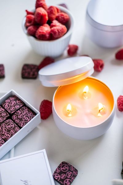 Raspberry Rose Bonbon Soy Candle