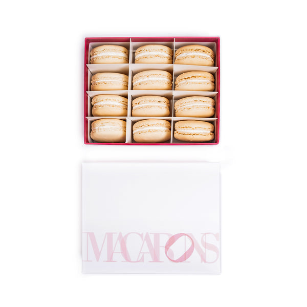 12-Piece Box of Macarons: Almond Vanilla