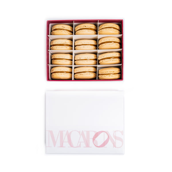 12-Piece Box of Macarons: Salty Caramel