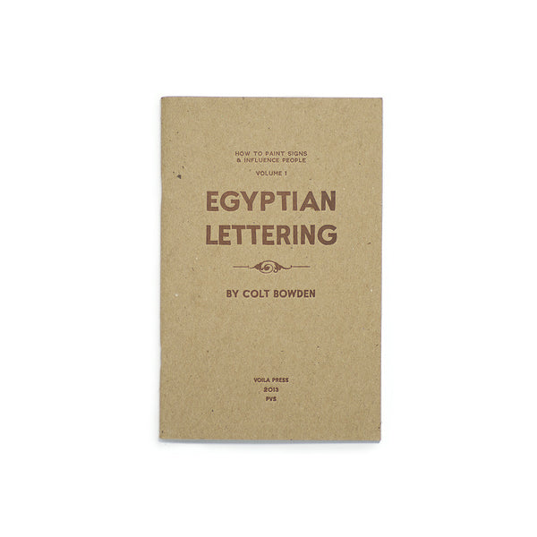 Egyptian Lettering Vol 1