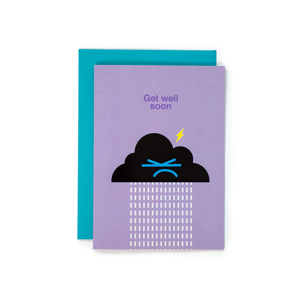 Get Well Soon Cloud Greeting Card