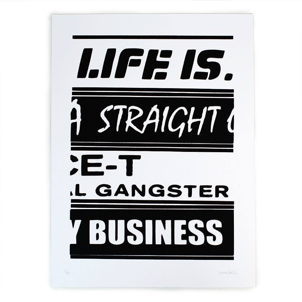 """Life Is"" print by Mark Drew"